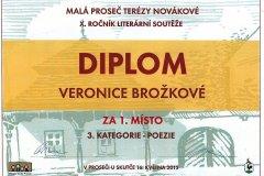 Veronika Brožková zvítězila v celostátní